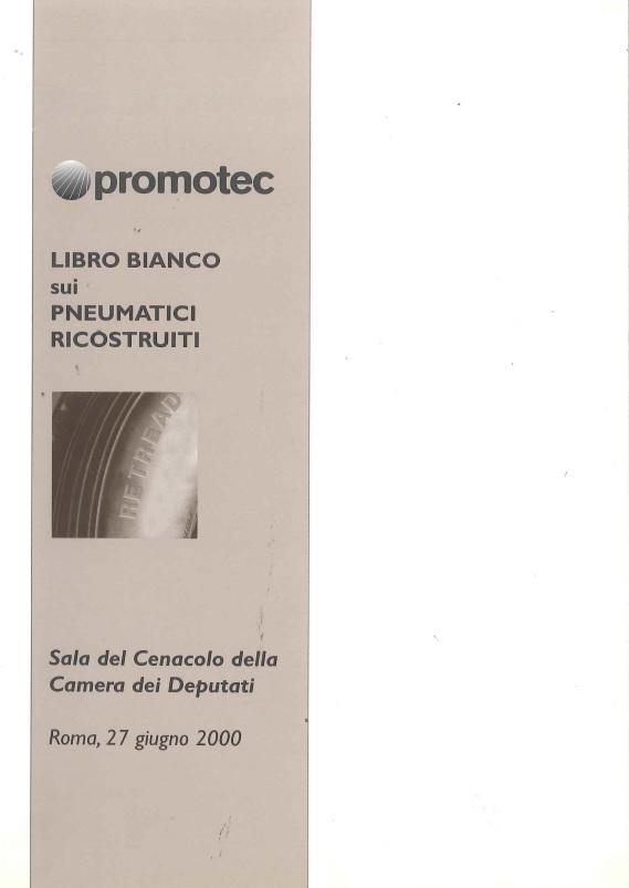Libro Bianco Sui Pneumatici Ricostruiti 2000