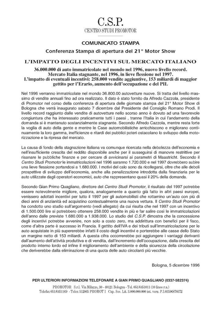 CSP - L'IMPATTO DEGLI INCENTIVI SUL MERCATO ITALIANO